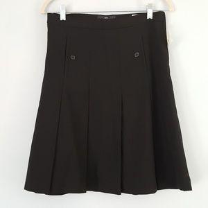 H&M Pleated A Line Skirt NWT Black